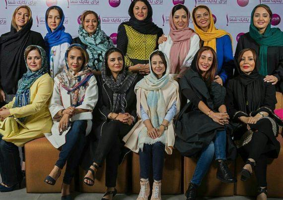 خوشحالی بازیگران زن در روز برفی خاطره انگیز تهران در بهمن ماه ۹۶