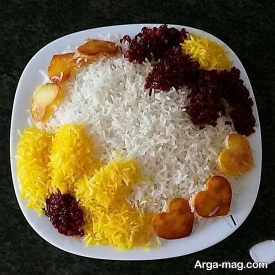 تزیین برنج به شکل گل