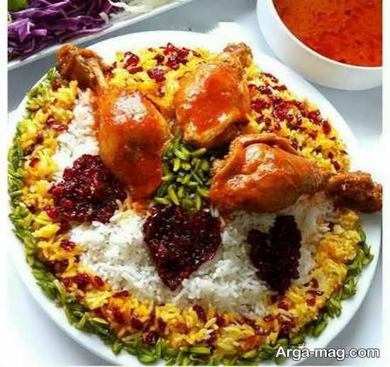 تزیین برنج ته چین