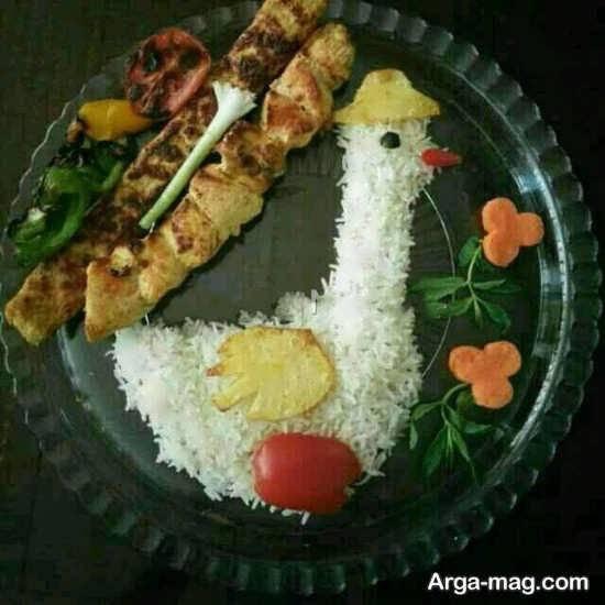 تزیین برنج به شکل مختلف
