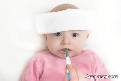 درمان های خانگی تب کودکان