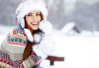 ژست عکس زمستانی هنرمندانه