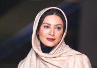 حدیثه تهرانی به همراه همسرش در سینما قدس تهران