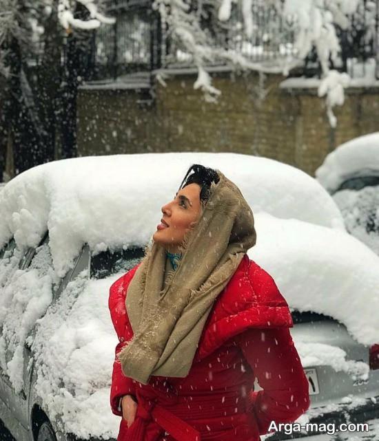 لیلا بلوکات در اولین برف زمستانی 96