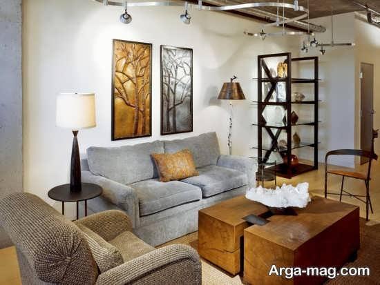 نورپردازی ترکیبی اتاق پذیرایی