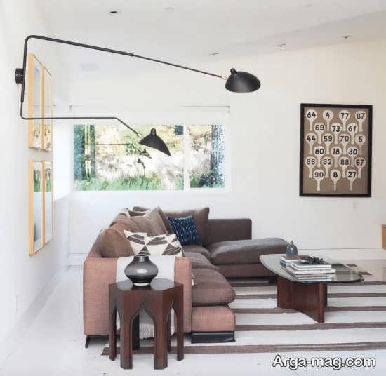 نورپردازی اتاق نشیمن با لامپ های قابل تنظیم