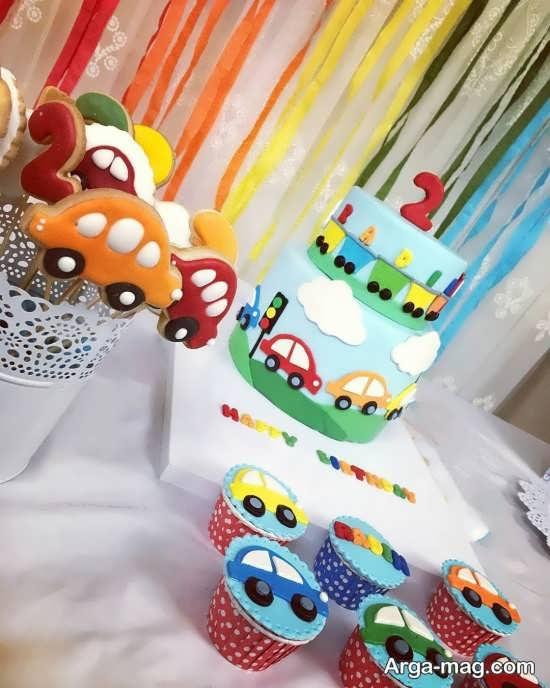 کیک طبقه ای با تم ماشین