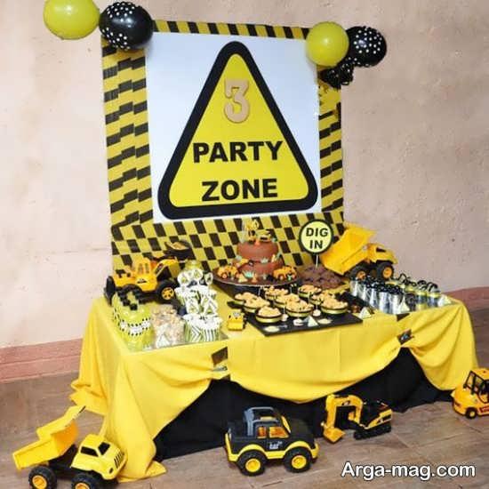 جشن تولد با تم بولدوزر