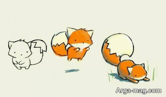 نقاشی انیمیشنی روباه