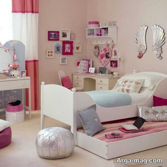اتاق خواب کوچک با طراحی خاص