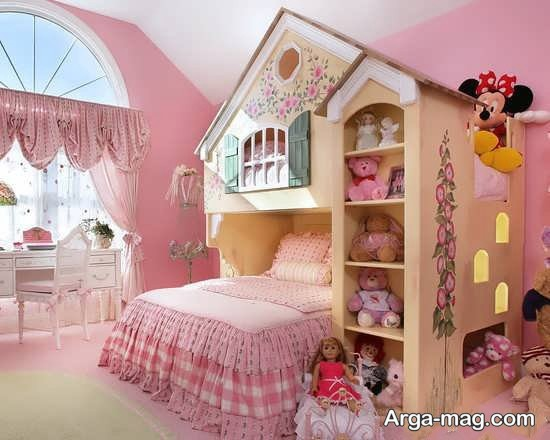 ایده طراحی اتاق دخترانه کوچک