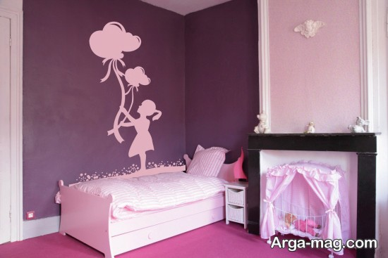 طراحی دخترانه اتاق خواب
