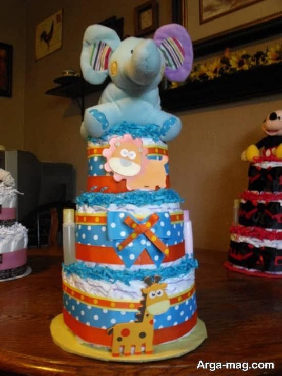 تزیین پوشک مخصوص مدل کیک