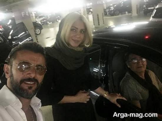 سلفی امین حیایی و رضا رویگری و همسرش