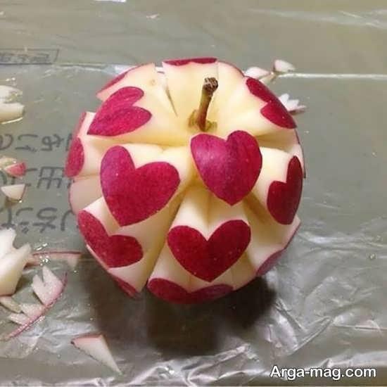 طرح قلب برای سیب آرایی