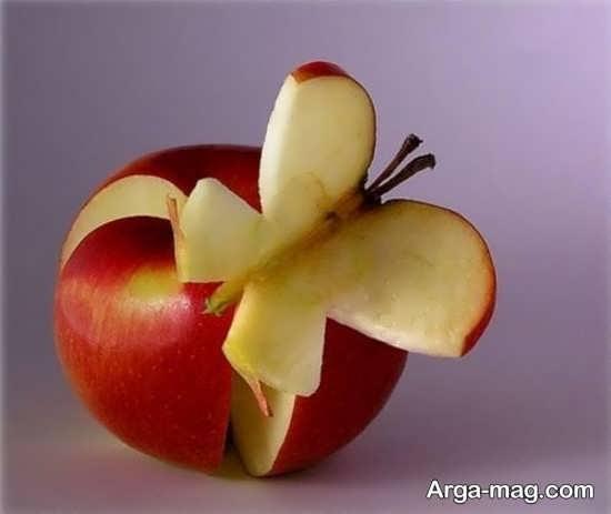 میوه آرایی با طرح پروانه