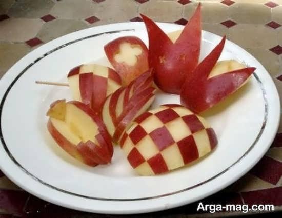 تزئین سیب با ایده های ساده