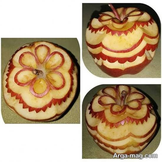 میوه آرایی سیب به شکل خاص