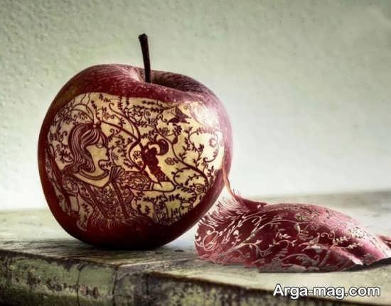 سیب آرایی با طرح ظریف