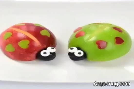 سیب آرایی به شکل کفشدوزک