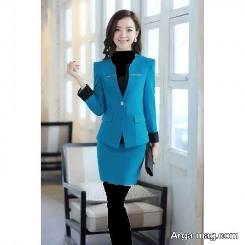 مدل کت و دامن آبی کره ای