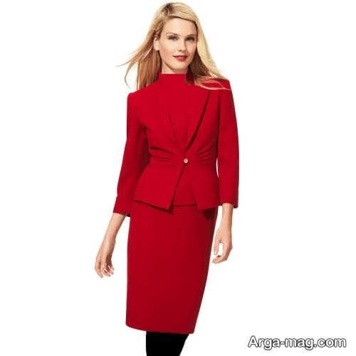 کت و دامن ساده 2018