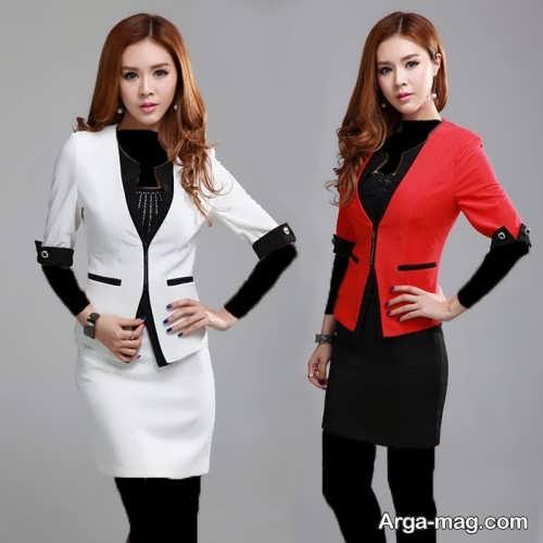 مدل کت و دامن 2018 زنانه