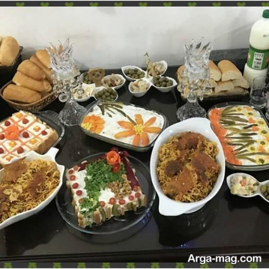 تزیین غذای متنوع سفره پاگشا