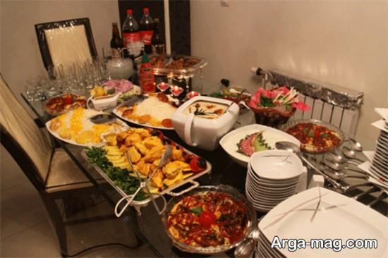 تزیین غذای مهمانی