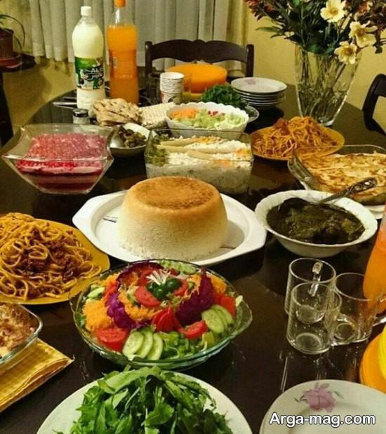 تزیین میز غذا برای پاگشا