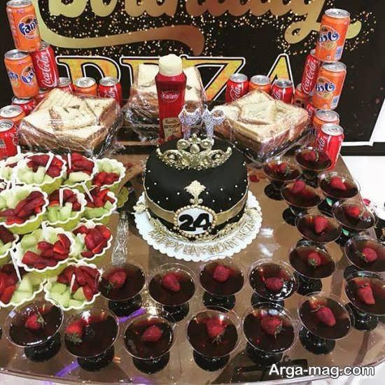 تزئین خوراکی با تم جشن