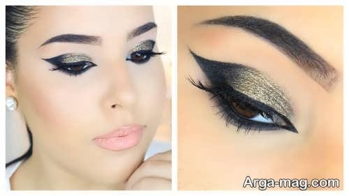آرایش چشم عربی حرفه ای برای دوست داران انواع آرایش خلیجی