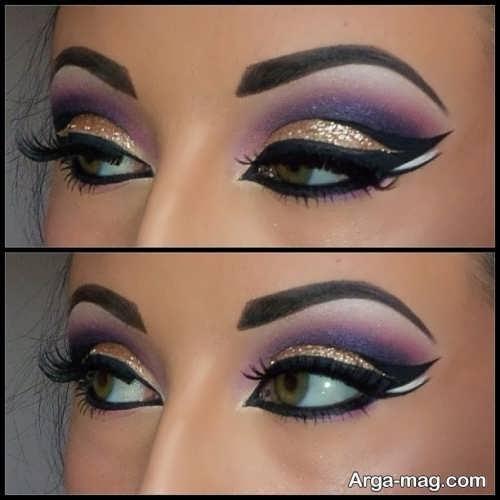 مدل آرایش چشم عربی شیک و متفاوت