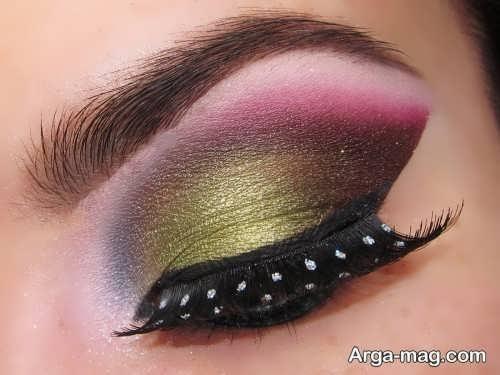 مدل آرایش چشم عربی زیبا و حرفه ای