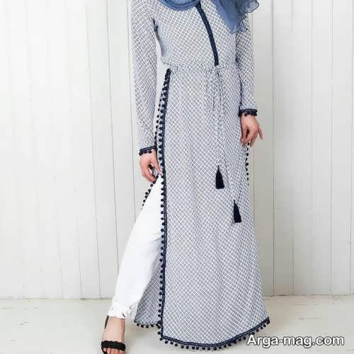 مدل مانتو بلند اندامی چاک دار مدل مانتو عربی بلند شیک و جدید برای سلیقه های مختلف
