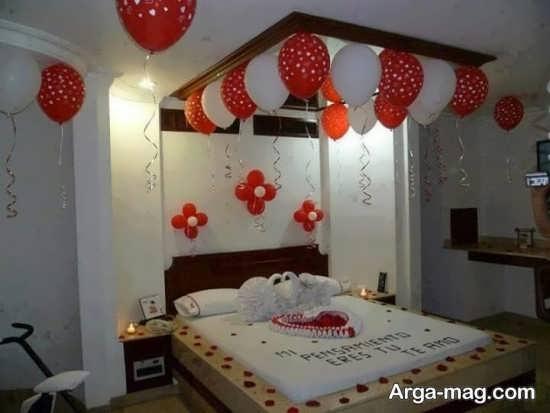تزیین اتاق عروس با بادکنک