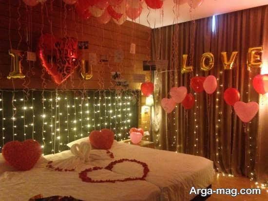 دکوراسیون زیبای اتاق عروس با بادکنک