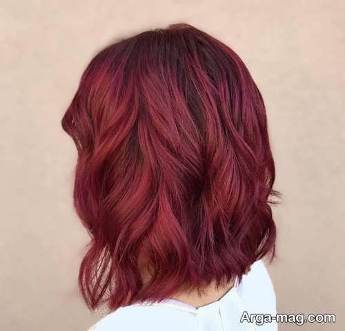 2 فرمول ترکیبی برای رنگ موی شرابی بدون دکلره عکس