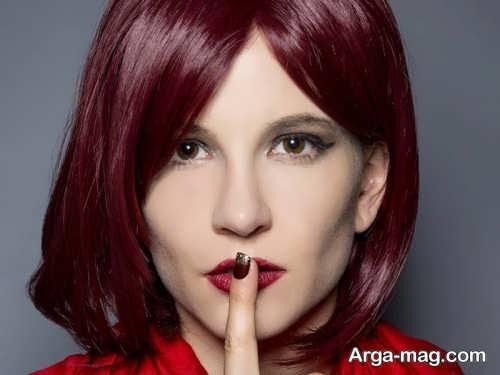 رنگ موی زنانه شرابی