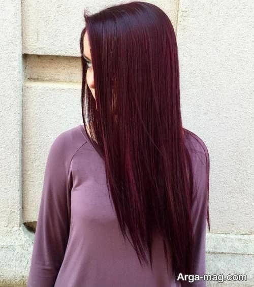 رنگ مو تیره شرابی