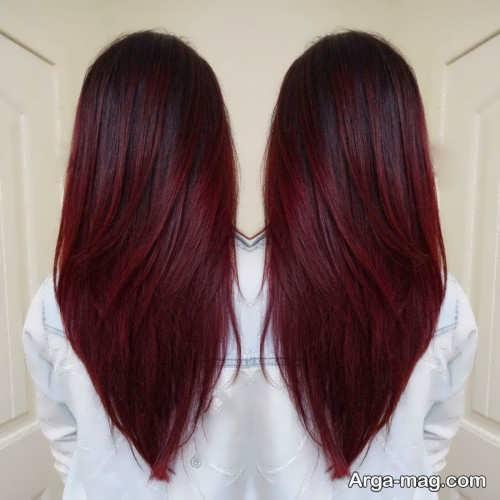 رنگ موی شرابی بدون دکلره دخترانه رنگ مو شرابی زیبا و شیک دخترانه