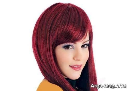 رنگ مو بدون دکلره شرابی