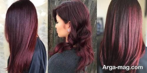 رنگ موی زنانه و دخترانه شرابی