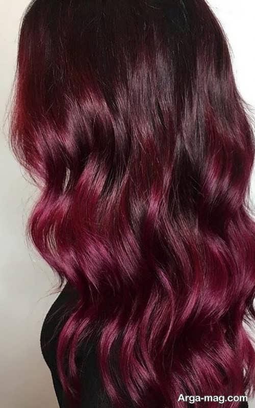 رنگ موی زیبا و جذاب شرابی