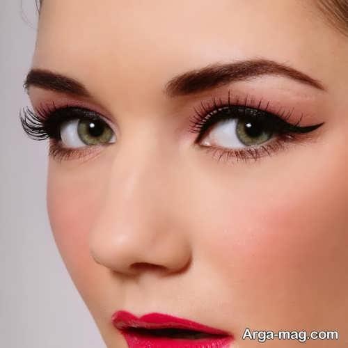 مدل میکاپ چشم ساده و زیبا