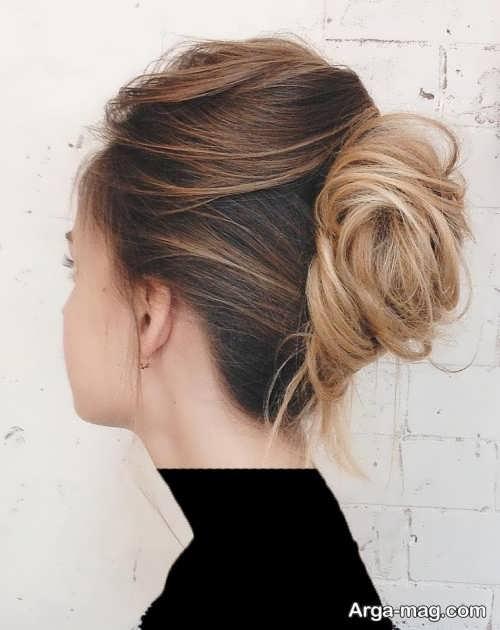 مدل شینیون زیبا برای موی کم پشت