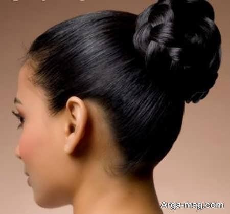 مدل شینیون موی کم پشت
