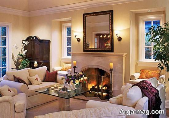 دکوراسیون اتاق پذیرایی کلاسیک با طراحی زیبا و شیک
