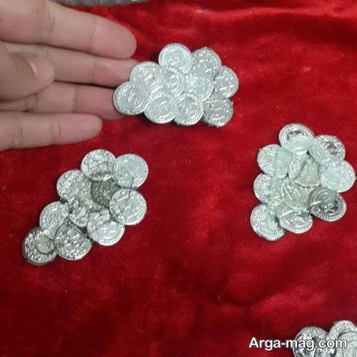 تزیین سکه سفره هفت سین به شکل انگور