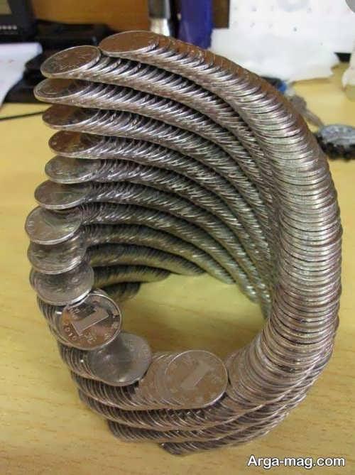 تزیین زیبا و فانتزی سکه سفره هفت سین